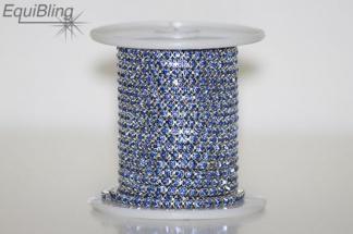 3mm strassketting licht blauw