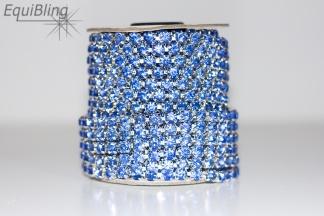 6mm strassketting lichtblauw