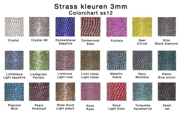 kleuren strass 3mm
